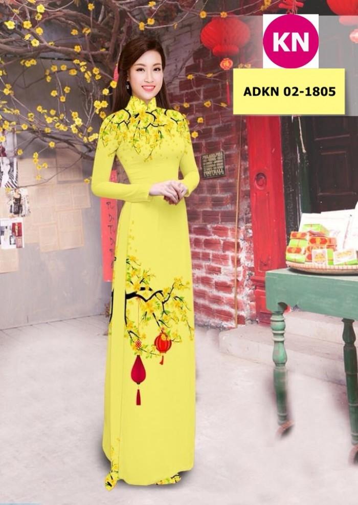 Vải bộ áo dài in đẹp ADKN 02-1805 (vải áo và vải quần )7