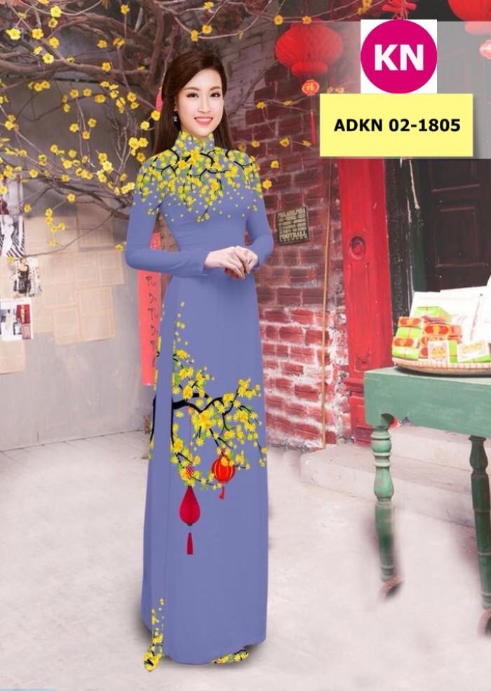 Vải bộ áo dài in đẹp ADKN 02-1805 (vải áo và vải quần )12