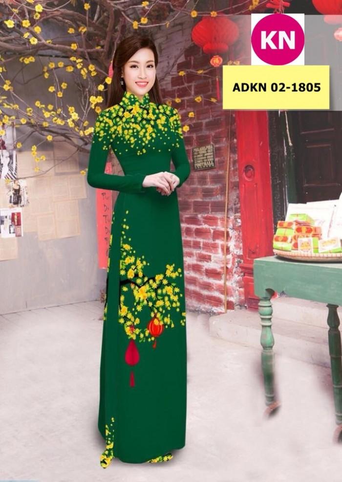 Vải bộ áo dài in đẹp ADKN 02-1805 (vải áo và vải quần )13