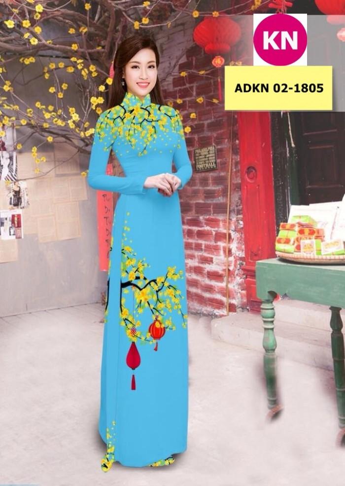 Vải bộ áo dài in đẹp ADKN 02-1805 (vải áo và vải quần )14
