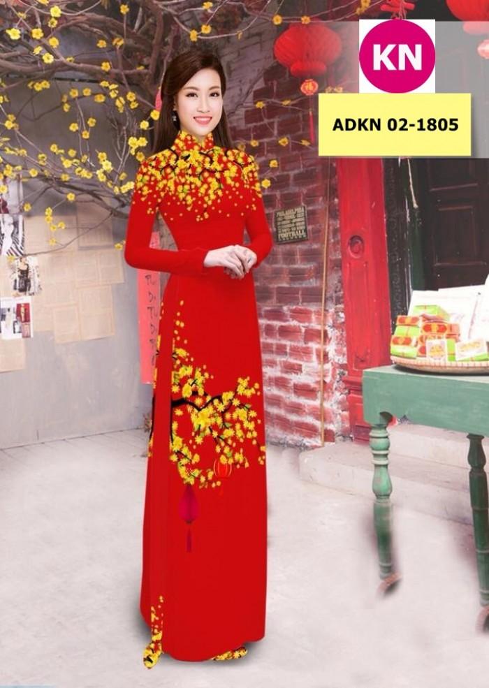 Vải bộ áo dài in đẹp ADKN 02-1805 (vải áo và vải quần )8