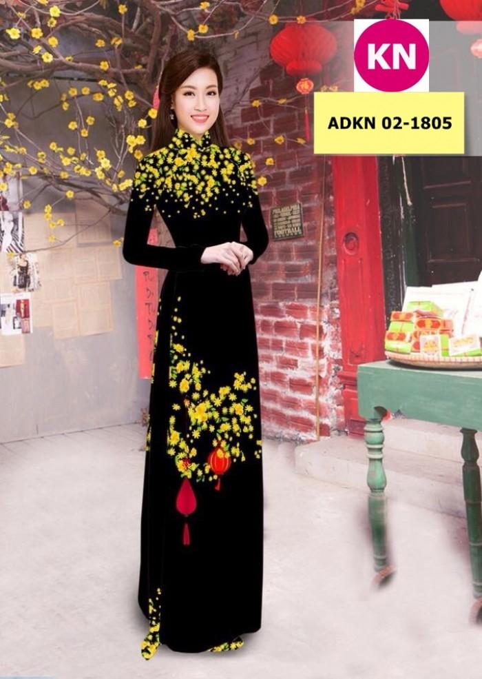 Vải bộ áo dài in đẹp ADKN 02-1805 (vải áo và vải quần )11