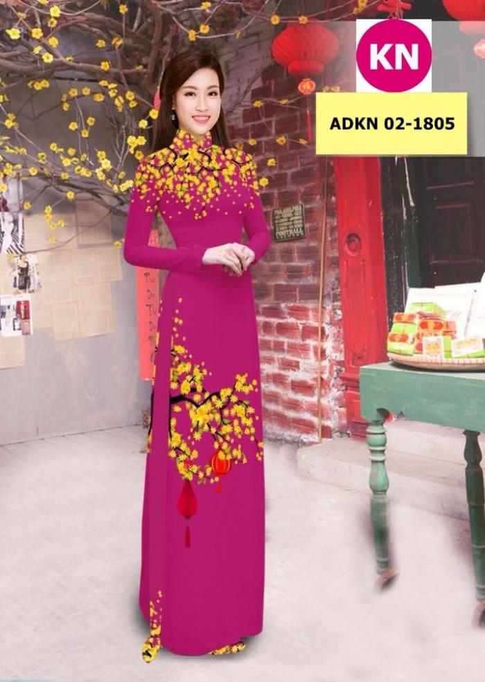 Vải bộ áo dài in đẹp ADKN 02-1805 (vải áo và vải quần )1