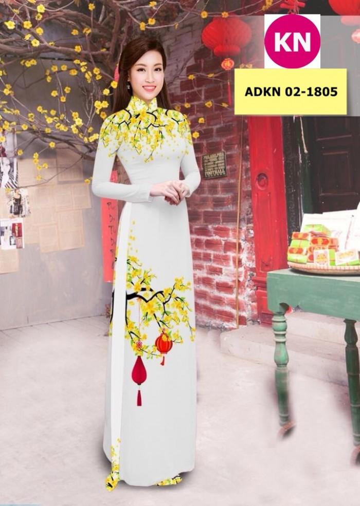 Vải bộ áo dài in đẹp ADKN 02-1805 (vải áo và vải quần )2