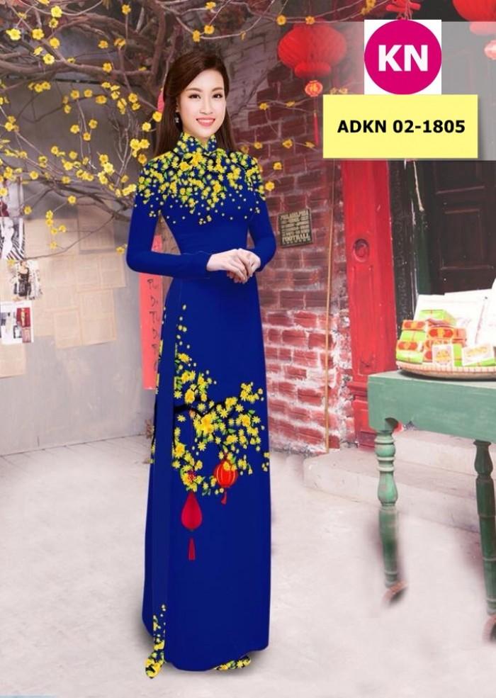 Vải bộ áo dài in đẹp ADKN 02-1805 (vải áo và vải quần )4