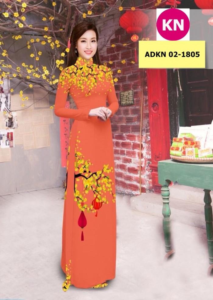 Vải bộ áo dài in đẹp ADKN 02-1805 (vải áo và vải quần )5