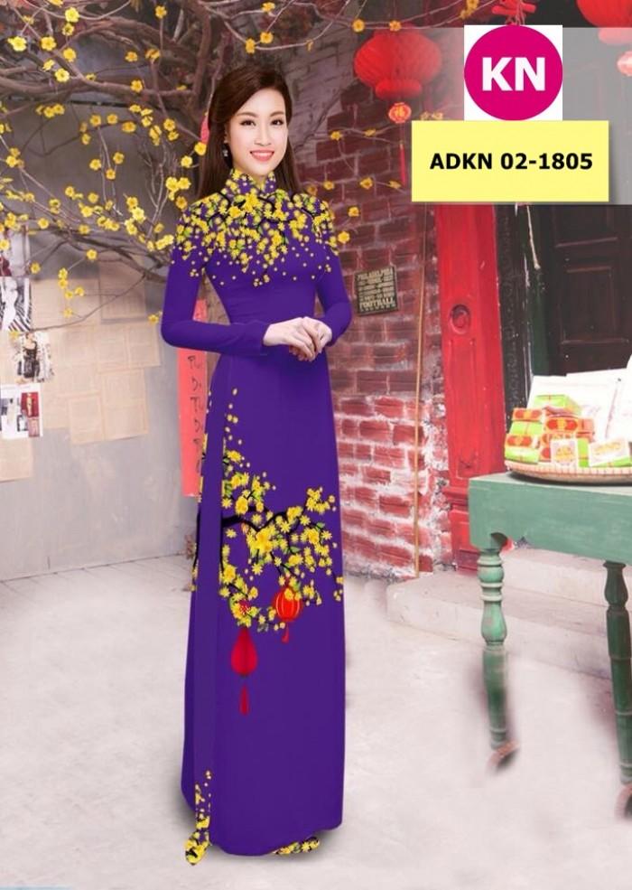 Vải bộ áo dài in đẹp ADKN 02-1805 (vải áo và vải quần )6