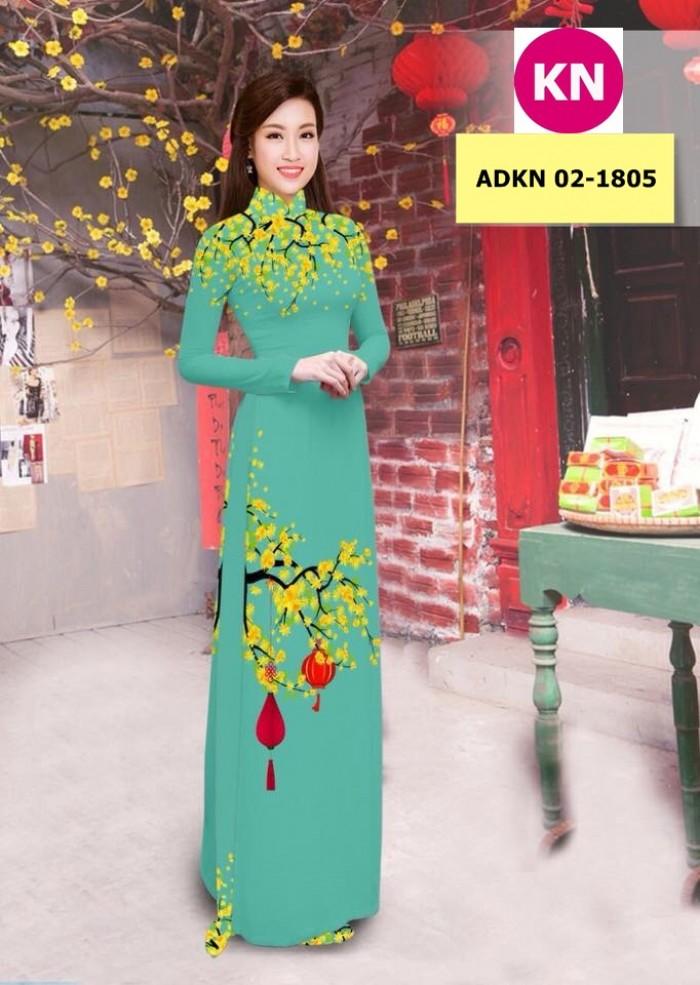 Vải bộ áo dài in đẹp ADKN 02-1805 (vải áo và vải quần )10