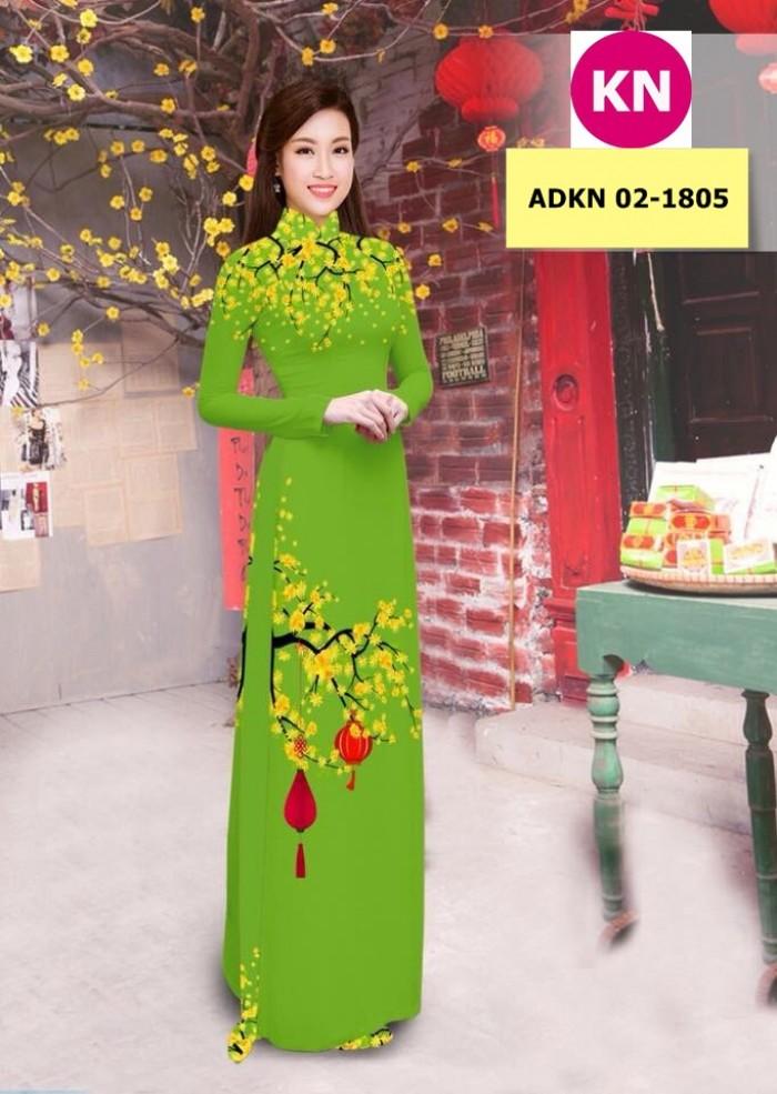 Vải bộ áo dài in đẹp ADKN 02-1805 (vải áo và vải quần )15