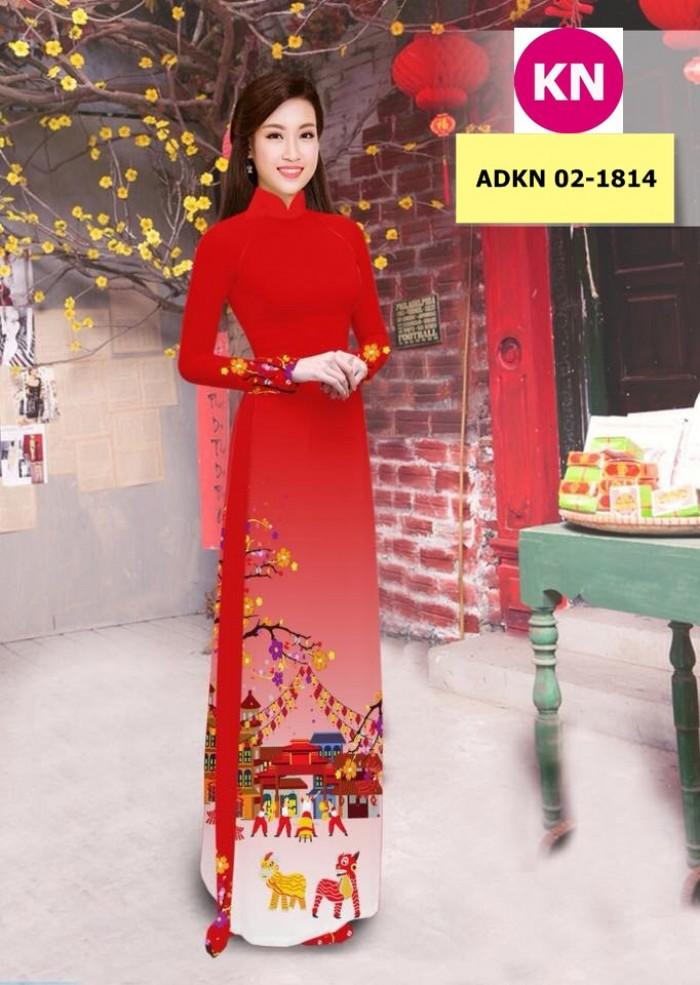 Vải bộ áo dài in đẹp ADKN 02-1814 (vải áo và vải quần )16