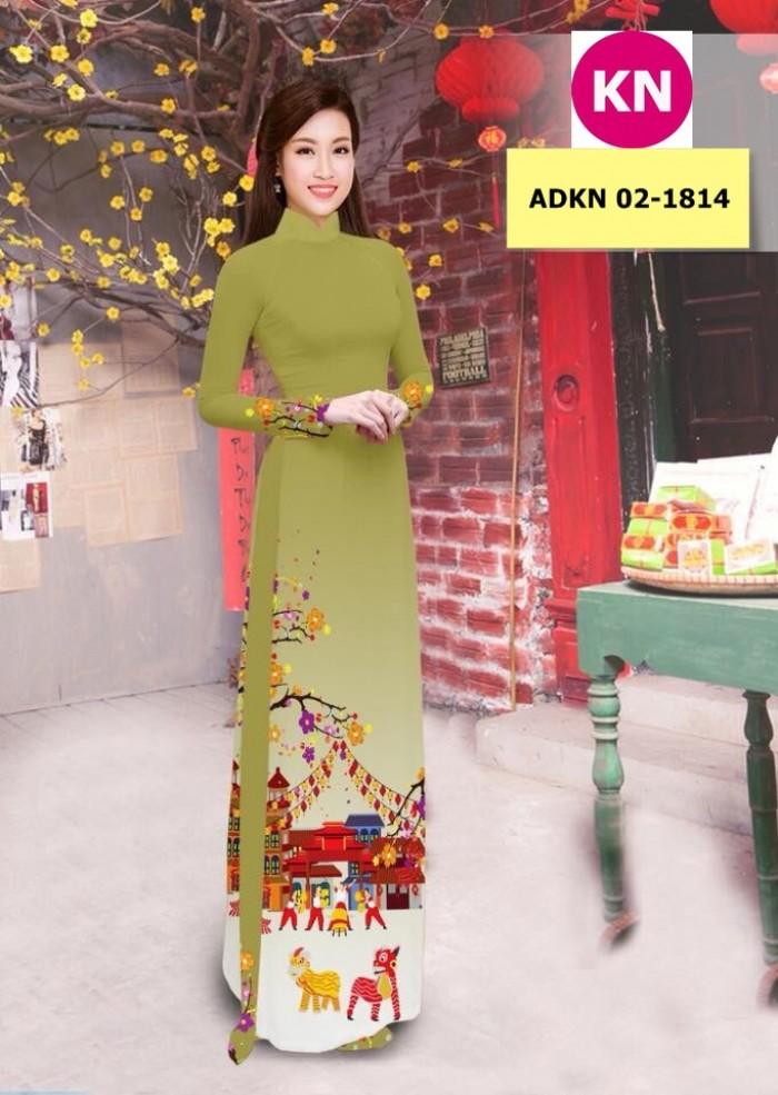 Vải bộ áo dài in đẹp ADKN 02-1814 (vải áo và vải quần )8