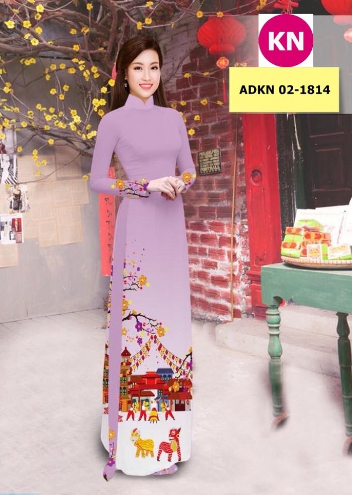 Vải bộ áo dài in đẹp ADKN 02-1814 (vải áo và vải quần )13