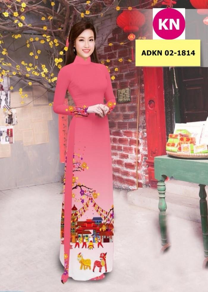 Vải bộ áo dài in đẹp ADKN 02-1814 (vải áo và vải quần )3