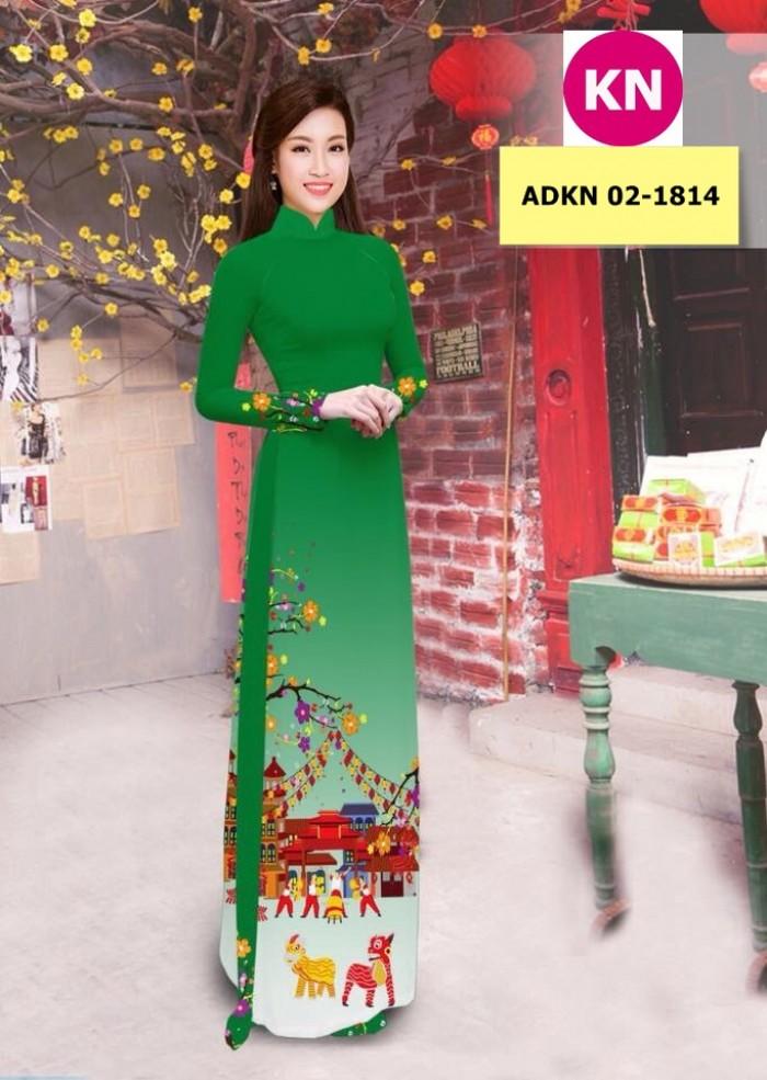 Vải bộ áo dài in đẹp ADKN 02-1814 (vải áo và vải quần )14