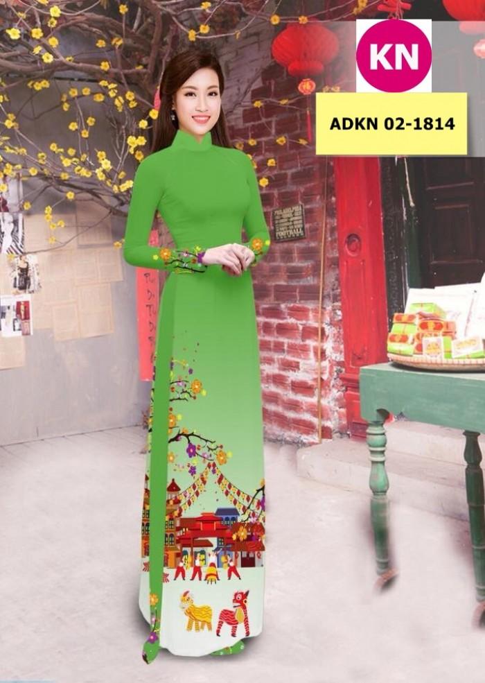Vải bộ áo dài in đẹp ADKN 02-1814 (vải áo và vải quần )10