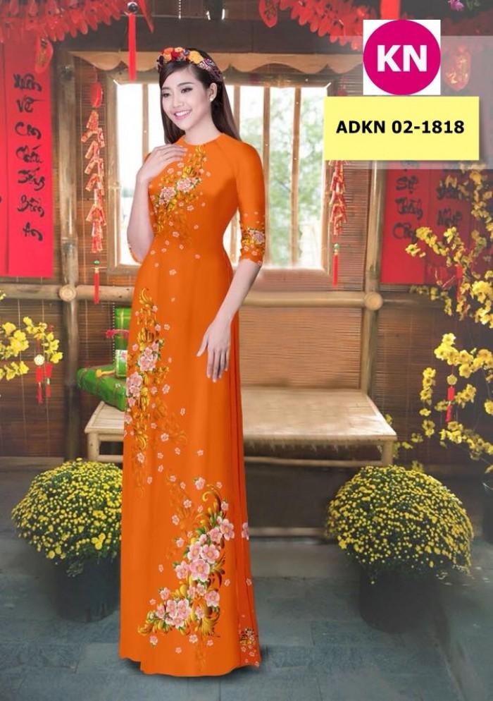 Vải bộ áo dài in đẹp KN 02-1818 (vải áo và vải quần )11