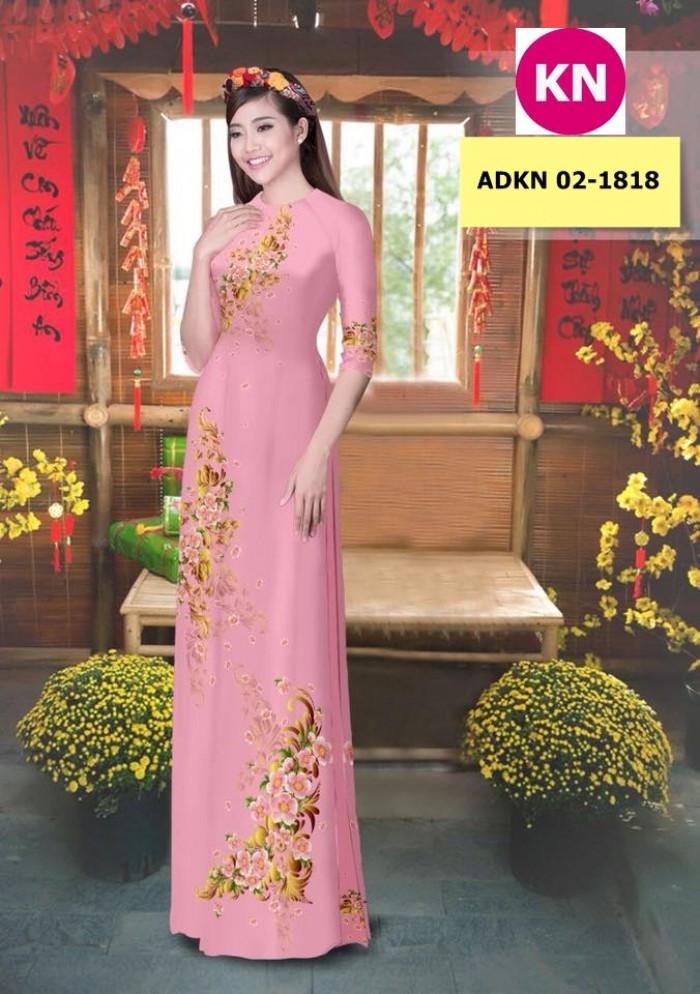 Vải bộ áo dài in đẹp KN 02-1818 (vải áo và vải quần )9