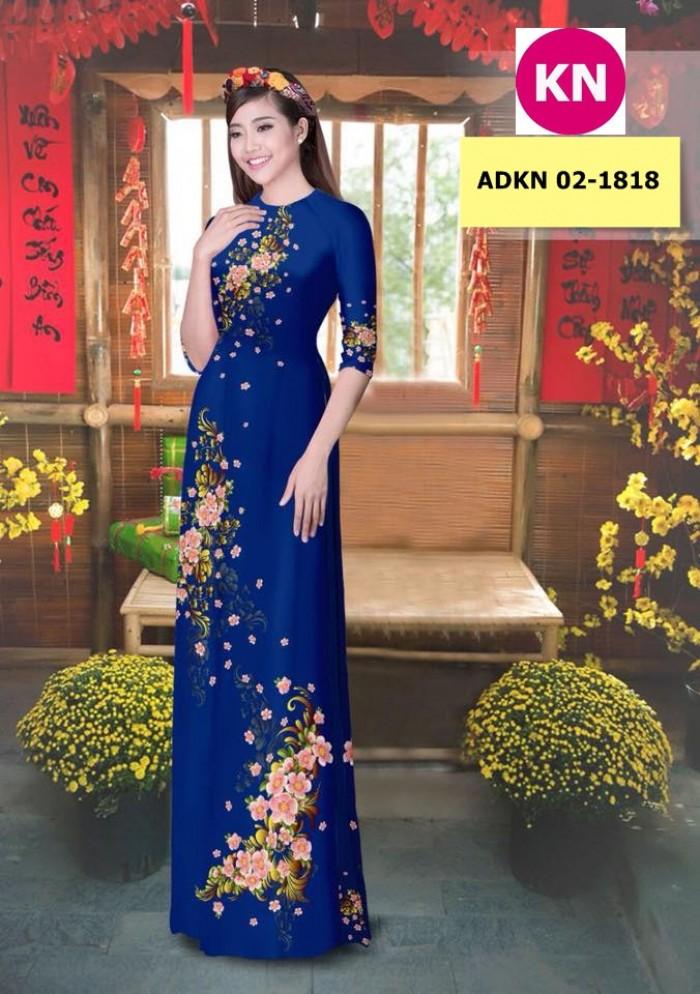 Vải bộ áo dài in đẹp KN 02-1818 (vải áo và vải quần )8