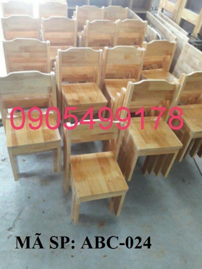 ghế gỗ mầm non gia lai3