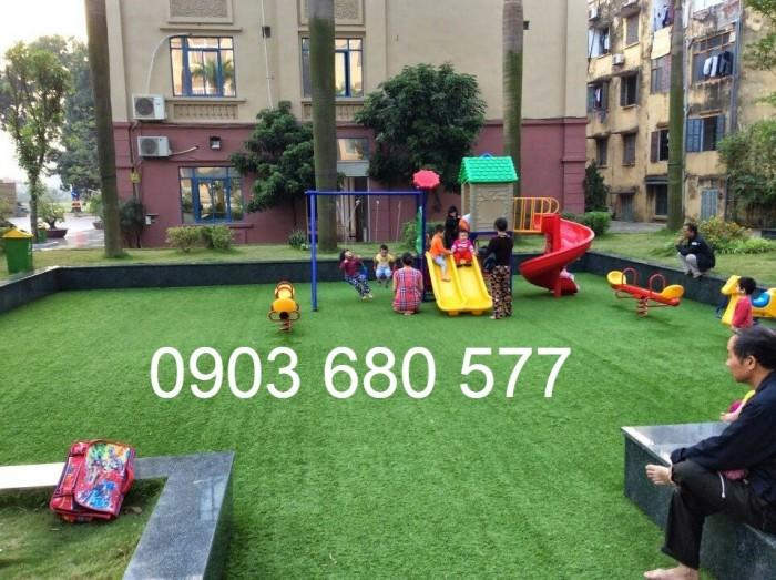 Thảm cỏ nhân tạo, thảm xốp trang trí trường mầm non10