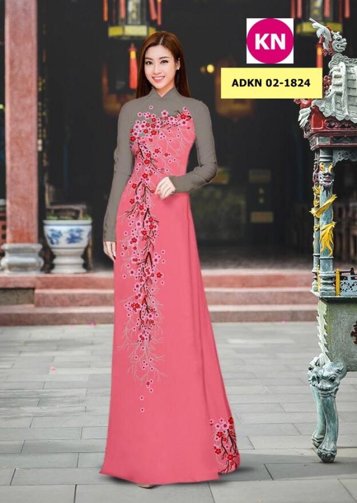 Vải bộ áo dài in đẹp ADKN 02-1824 (vải áo và vải quần )17