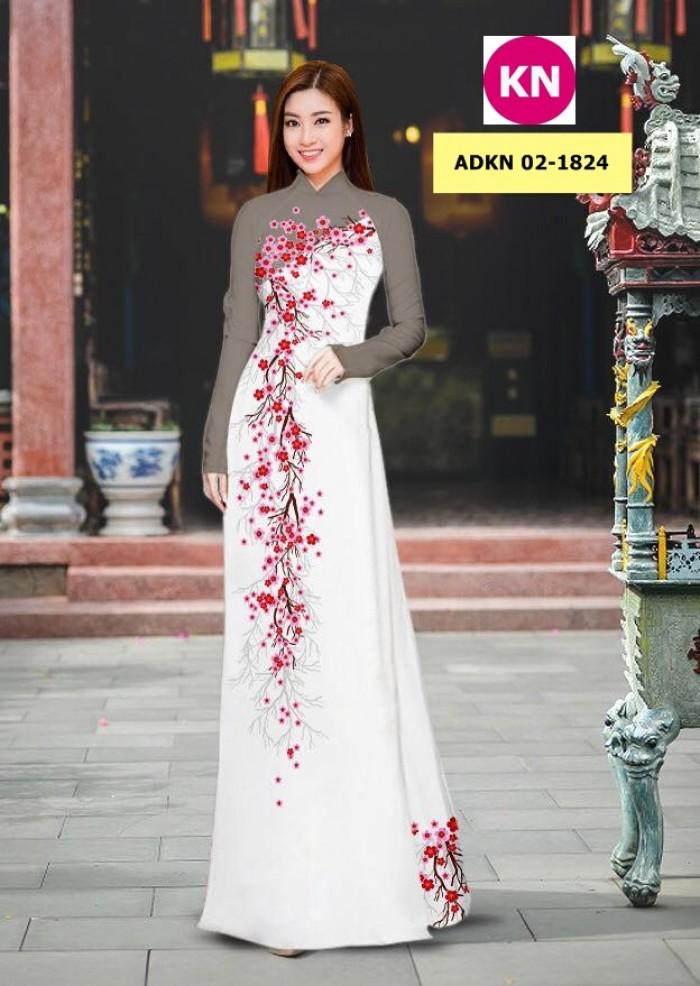 Vải bộ áo dài in đẹp ADKN 02-1824 (vải áo và vải quần )16