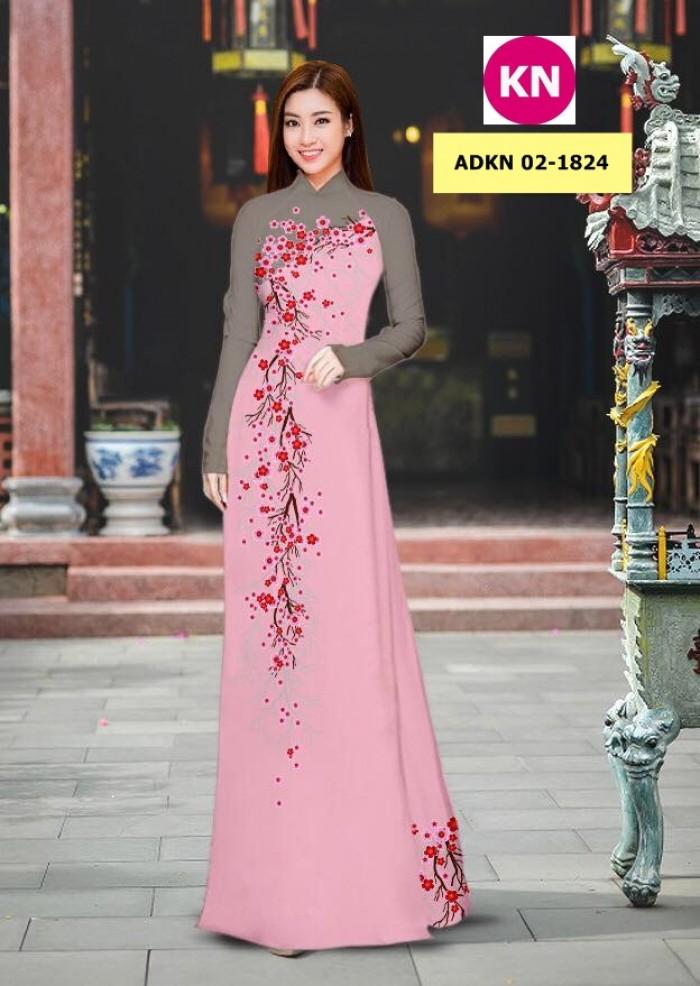 Vải bộ áo dài in đẹp ADKN 02-1824 (vải áo và vải quần )14