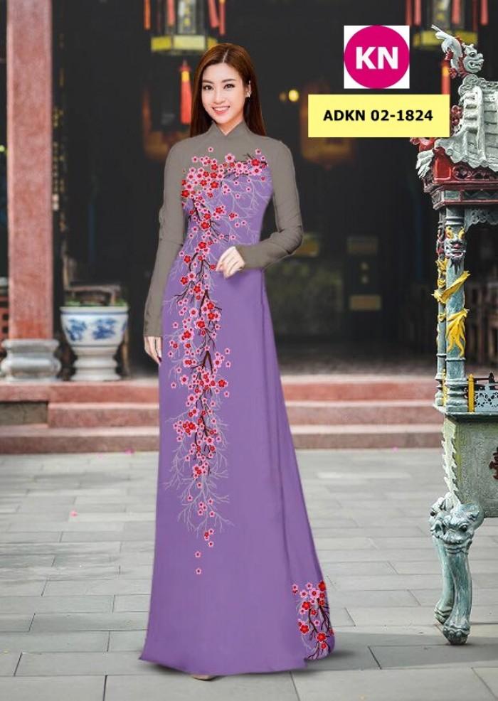Vải bộ áo dài in đẹp ADKN 02-1824 (vải áo và vải quần )15