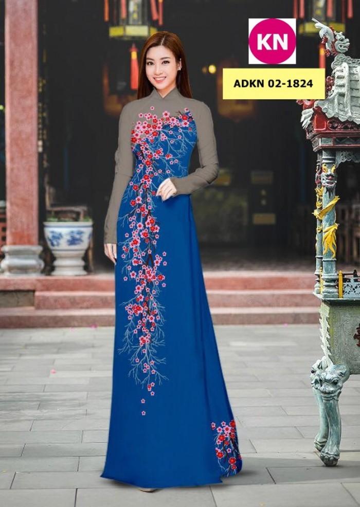 Vải bộ áo dài in đẹp ADKN 02-1824 (vải áo và vải quần )12