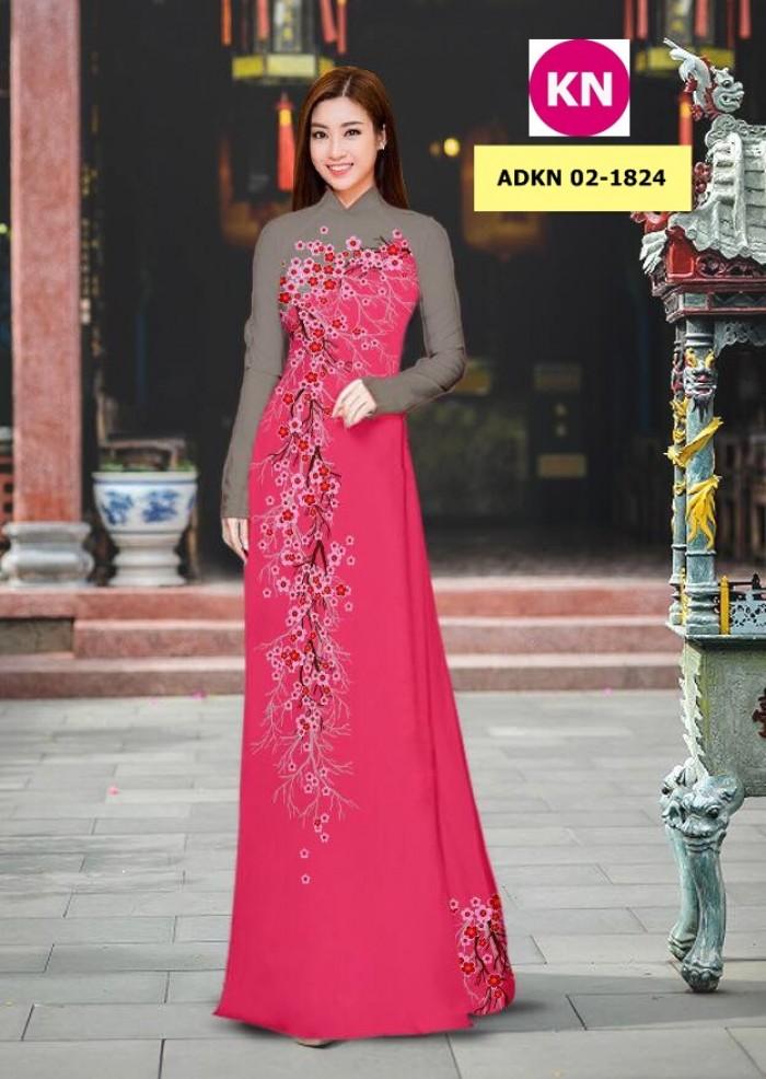 Vải bộ áo dài in đẹp ADKN 02-1824 (vải áo và vải quần )2