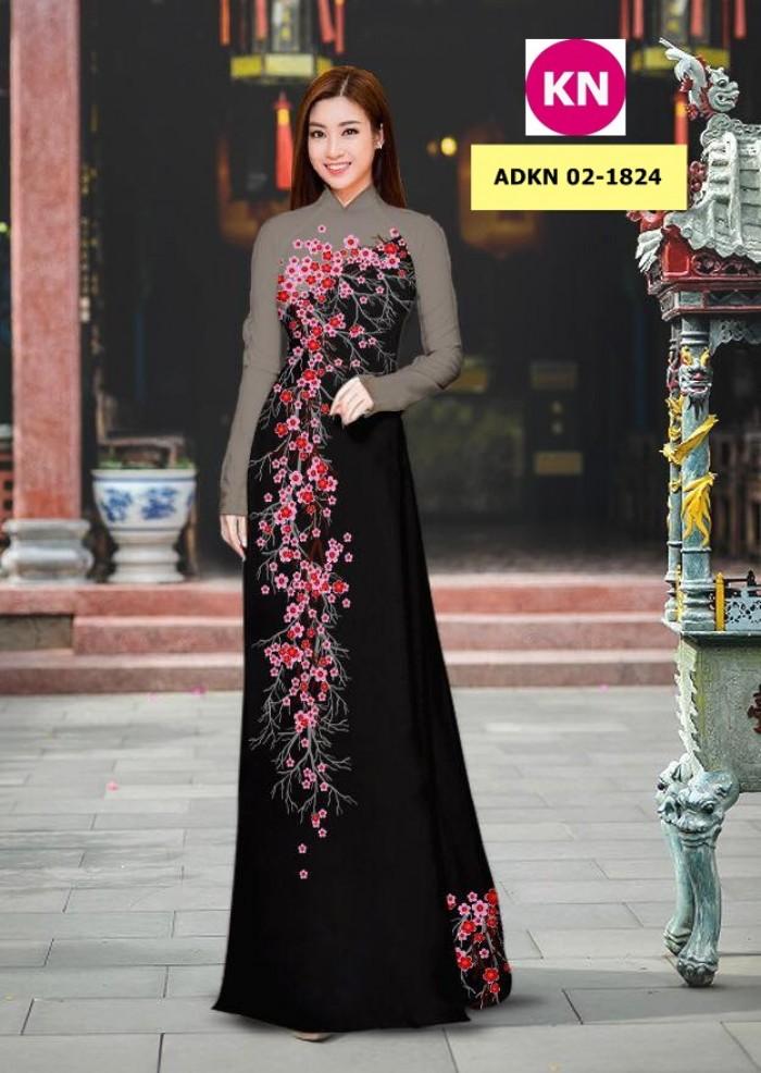 Vải bộ áo dài in đẹp ADKN 02-1824 (vải áo và vải quần )11