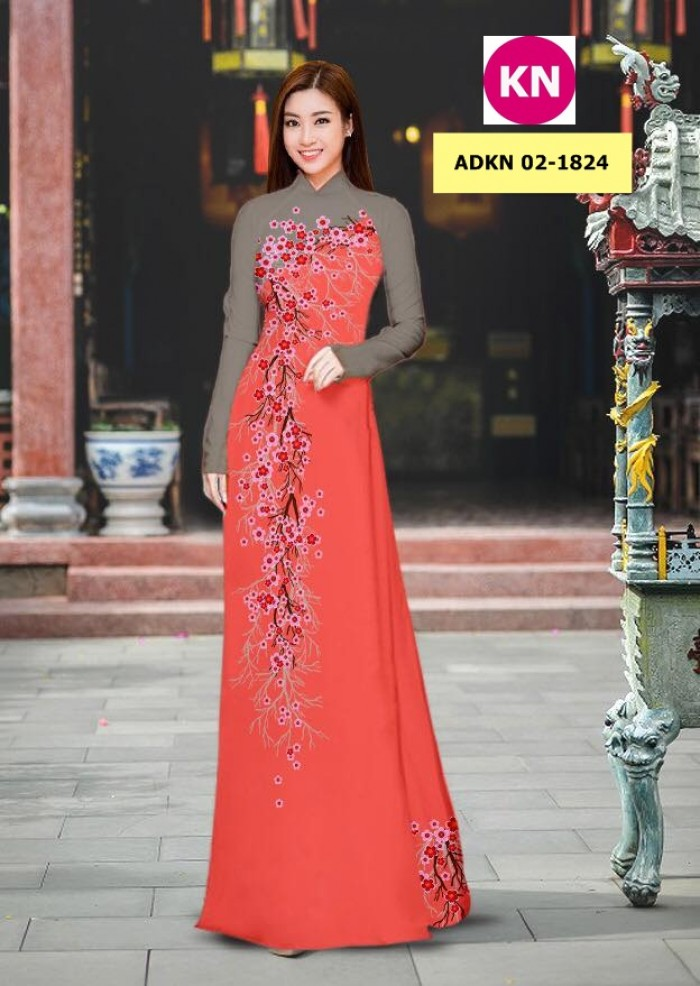 Vải bộ áo dài in đẹp ADKN 02-1824 (vải áo và vải quần )7