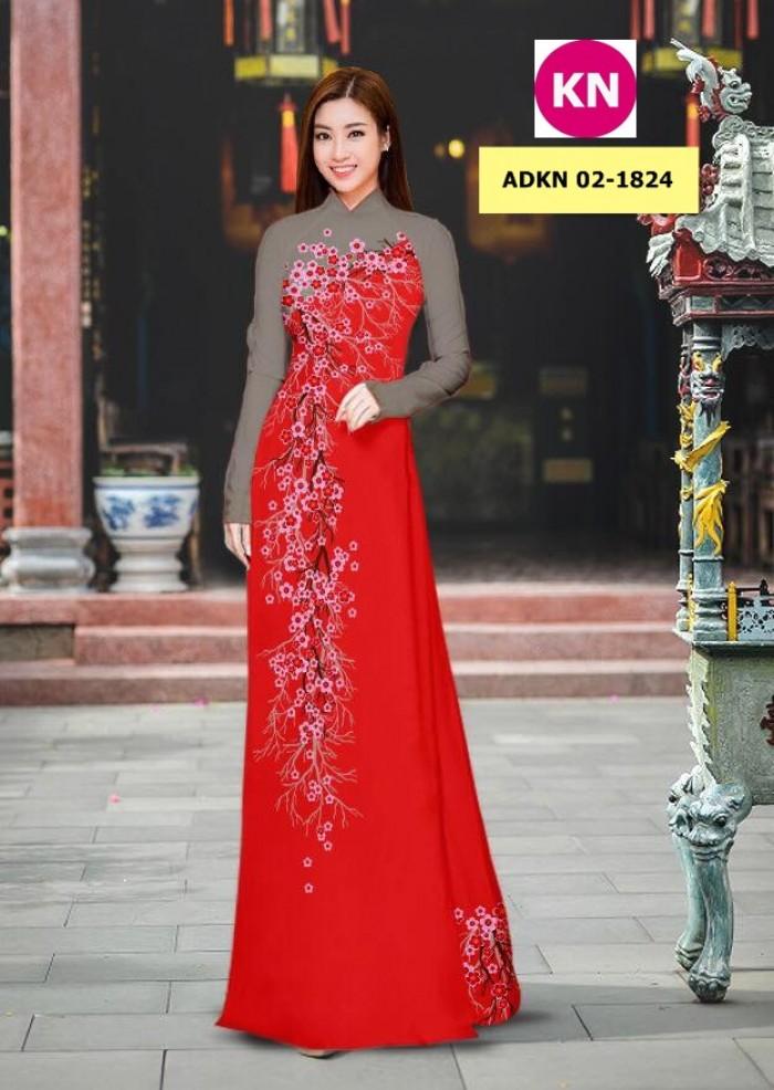 Vải bộ áo dài in đẹp ADKN 02-1824 (vải áo và vải quần )8