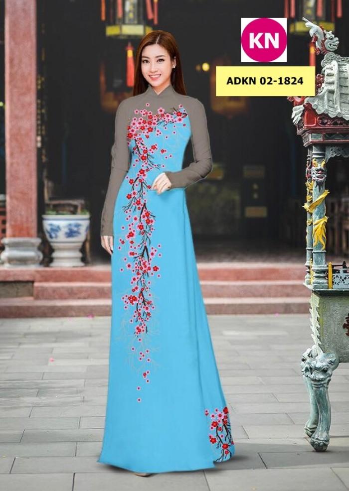 Vải bộ áo dài in đẹp ADKN 02-1824 (vải áo và vải quần )13