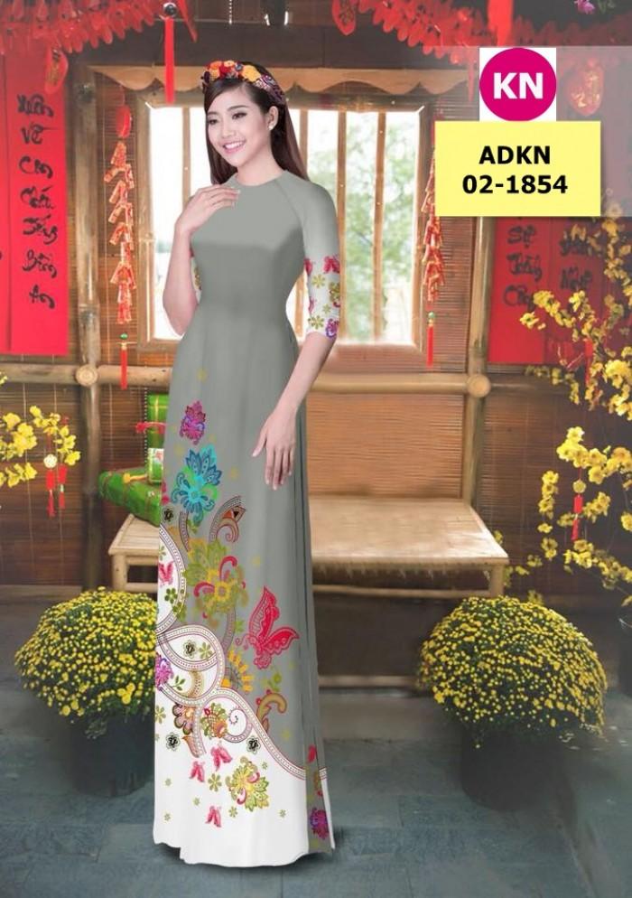 Vải bộ áo dài in đẹp ADKN 02-1854 (vải áo và vải quần )16