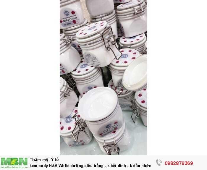 kem body H&A White dưỡng siêu trắng kem dưỡng da dưỡng trắng an toàn