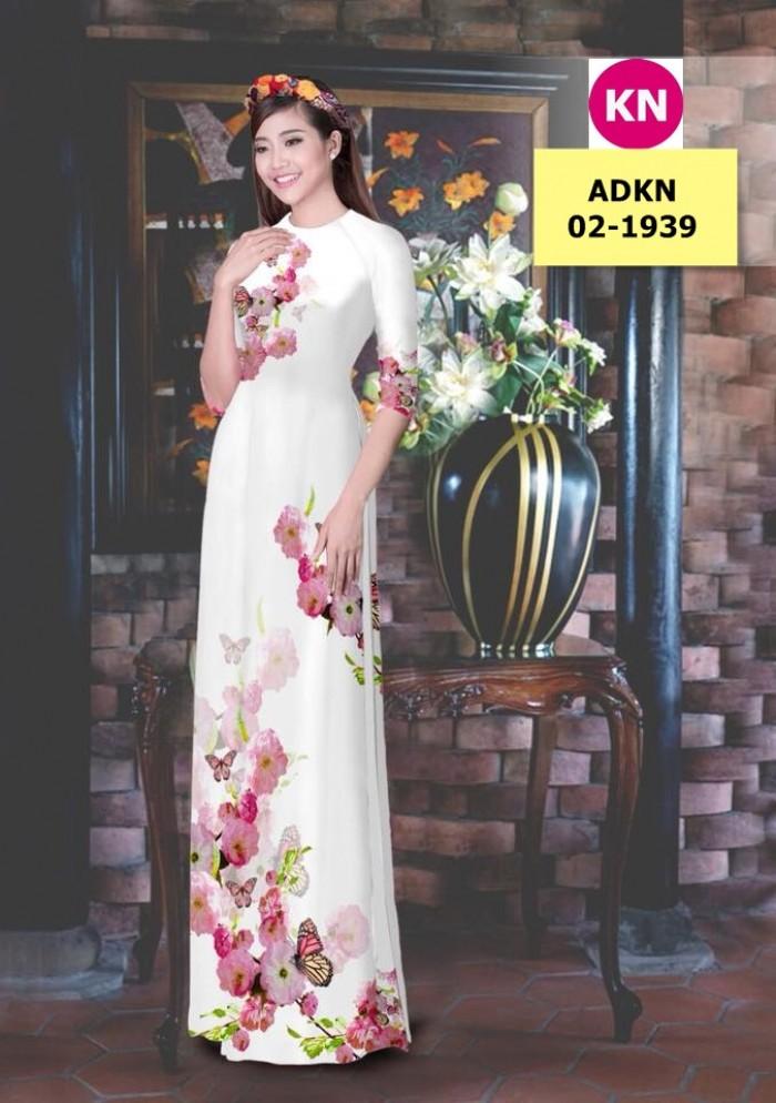 Vải bộ áo dài in đẹp ADKN 02-1939 (vải áo và vải quần )17