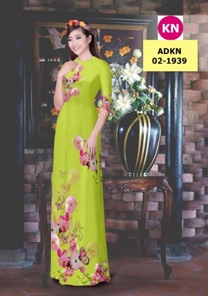 Vải bộ áo dài in đẹp ADKN 02-1939 (vải áo và vải quần )16