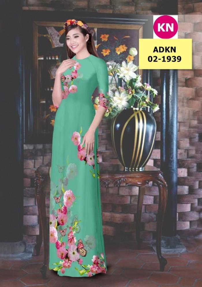 Vải bộ áo dài in đẹp ADKN 02-1939 (vải áo và vải quần )12