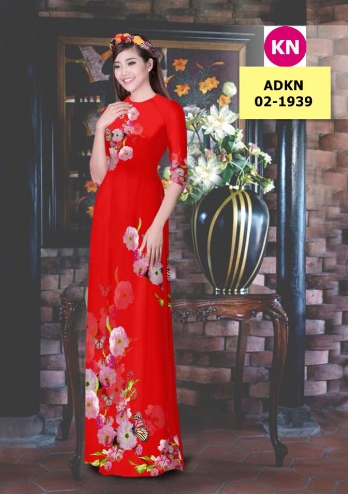 Vải bộ áo dài in đẹp ADKN 02-1939 (vải áo và vải quần )14