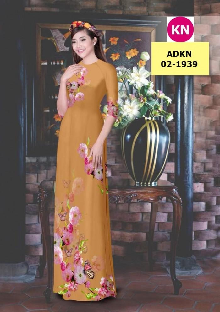 Vải bộ áo dài in đẹp ADKN 02-1939 (vải áo và vải quần )11