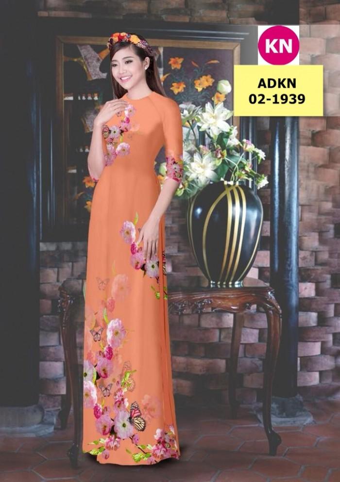 Vải bộ áo dài in đẹp ADKN 02-1939 (vải áo và vải quần )13