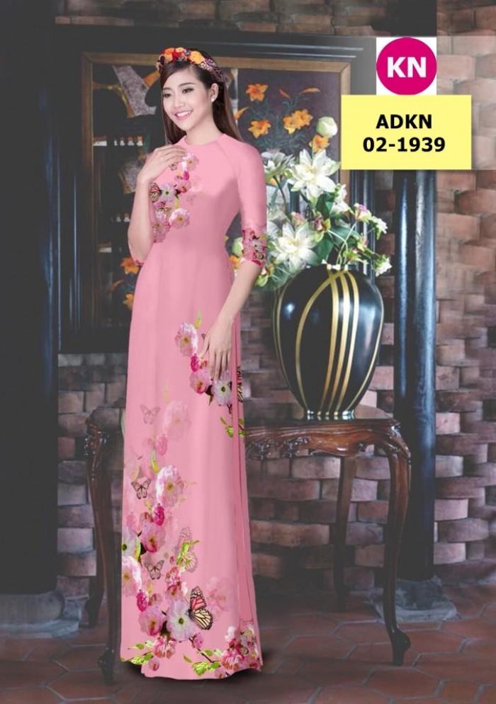 Vải bộ áo dài in đẹp ADKN 02-1939 (vải áo và vải quần )7