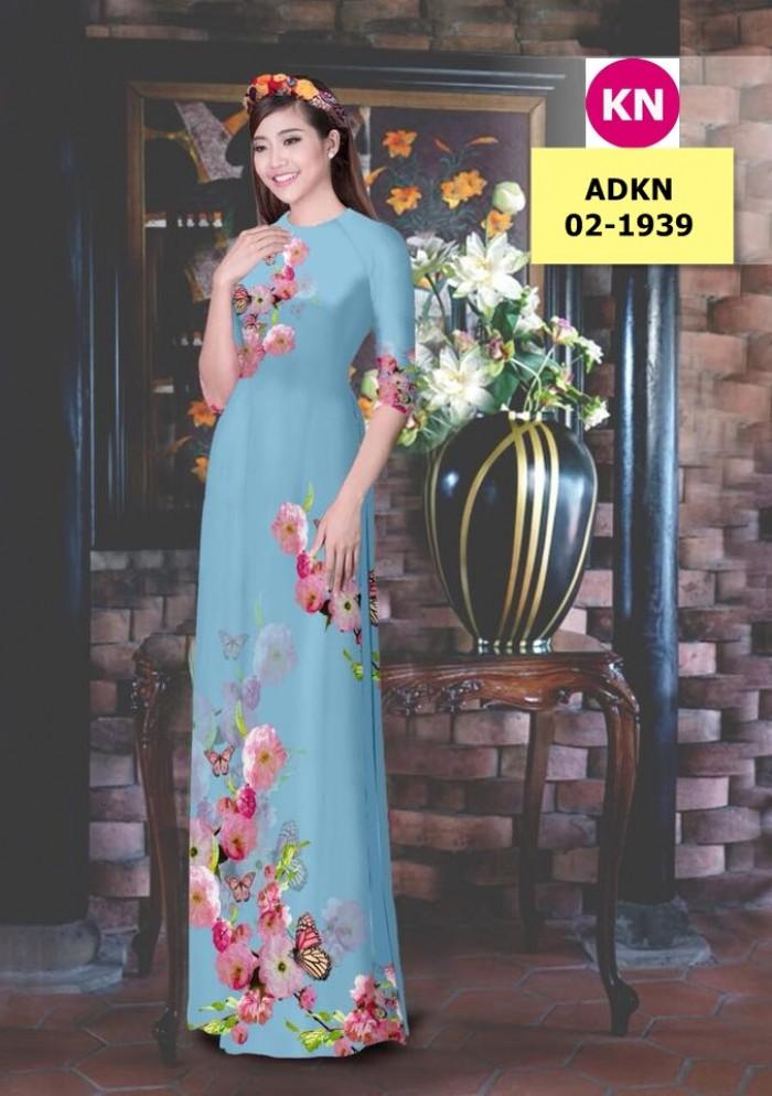 Vải bộ áo dài in đẹp ADKN 02-1939 (vải áo và vải quần )10
