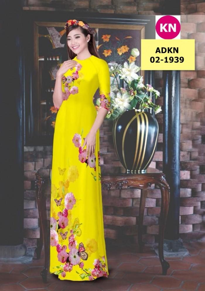 Vải bộ áo dài in đẹp ADKN 02-1939 (vải áo và vải quần )9