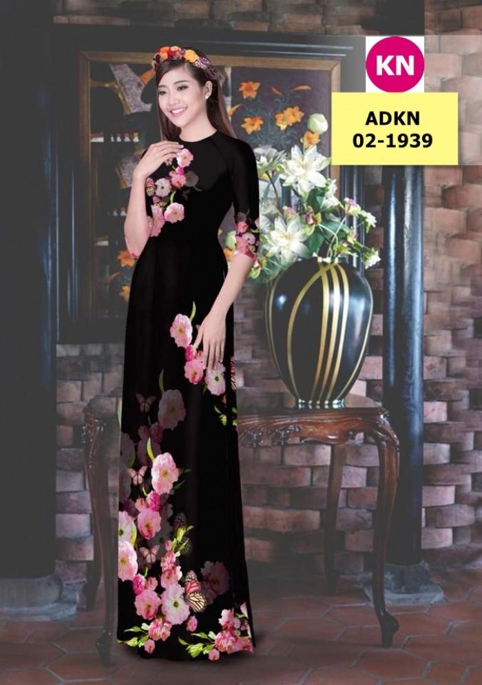 Vải bộ áo dài in đẹp ADKN 02-1939 (vải áo và vải quần )3