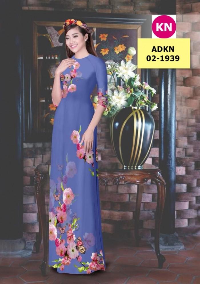 Vải bộ áo dài in đẹp ADKN 02-1939 (vải áo và vải quần )4