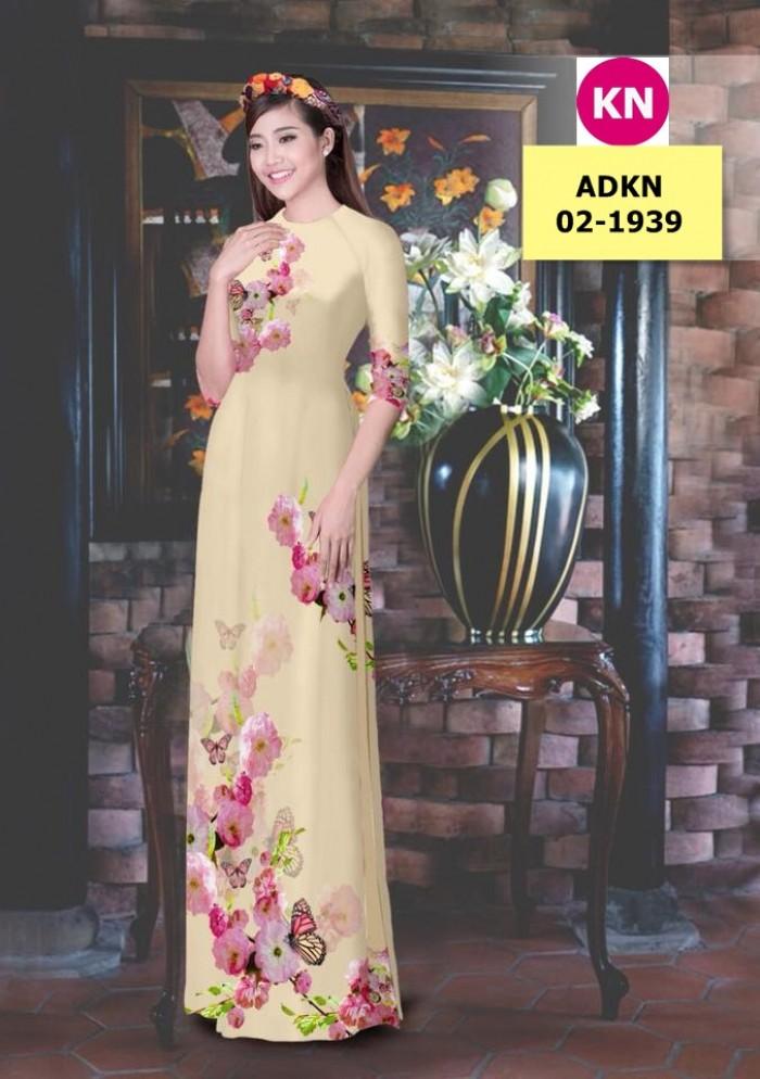 Vải bộ áo dài in đẹp ADKN 02-1939 (vải áo và vải quần )5