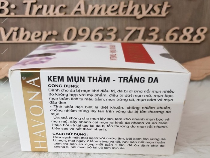 Kem Ngừa Mụn Thâm Trắng Da Havona Ngọc Trai0
