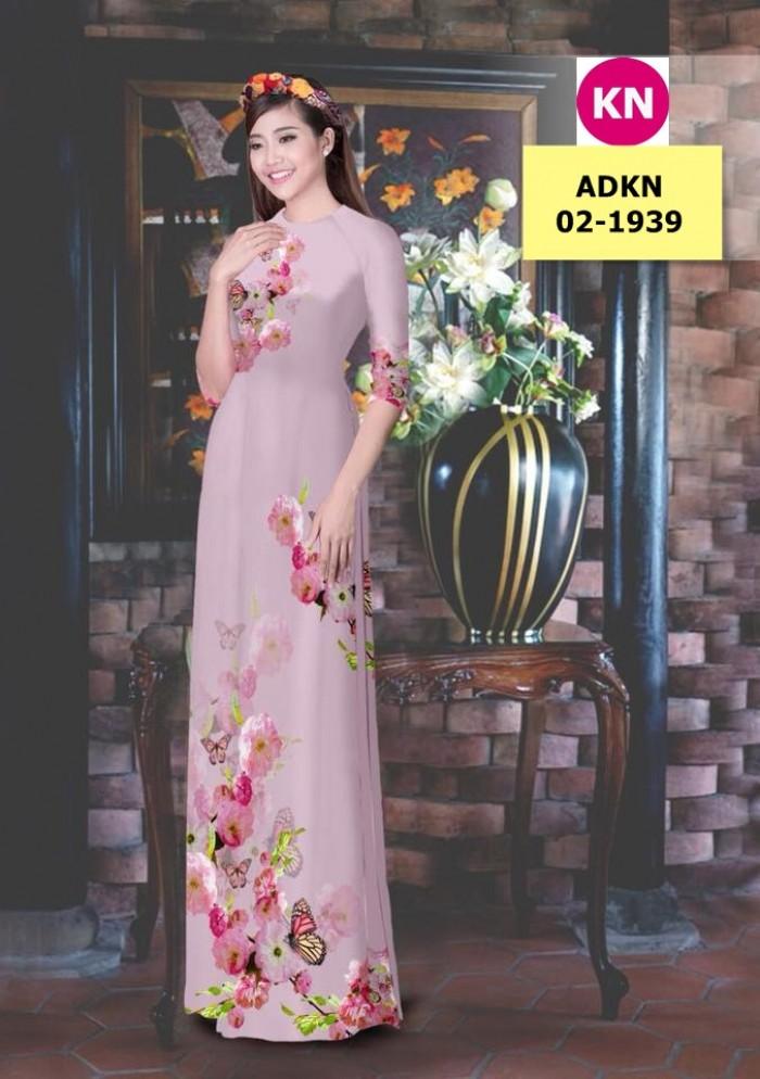 Vải bộ áo dài in đẹp ADKN 02-1939 (vải áo và vải quần )0